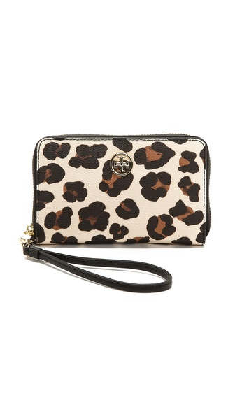 Tory Burch Robinson Faux Leather Wristlet
