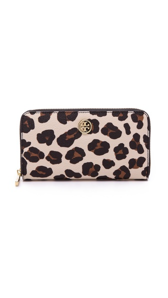 Tory Burch Robinson Print Zip Continental Wallet