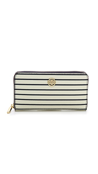 Tory Burch Robinson Printed Zip Continental Wallet