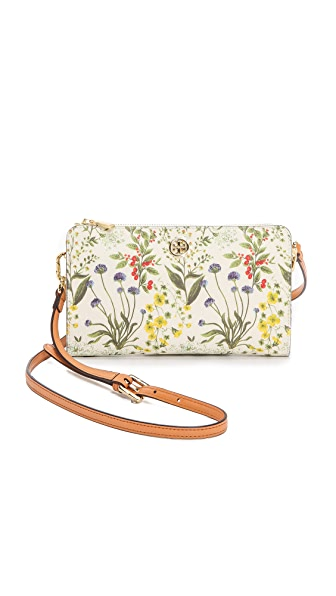 Tory Burch Robinson Wallet Cross Body Bag