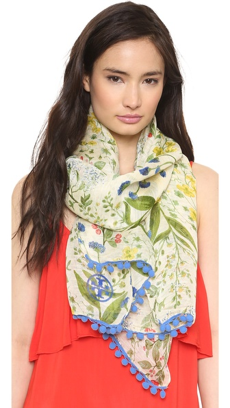 Tory Burch Watercolor Botanical Scarf