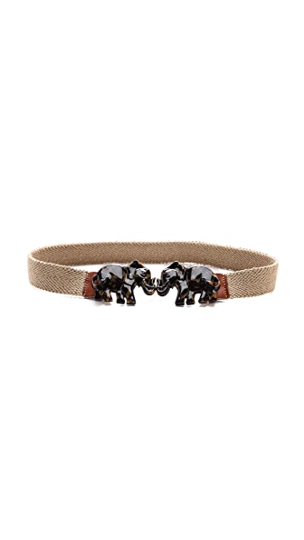 Tory Burch Tortoise Elephant Belt