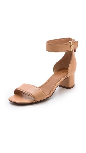 Tory Burch Tana Low Heel Sandals - B Pink