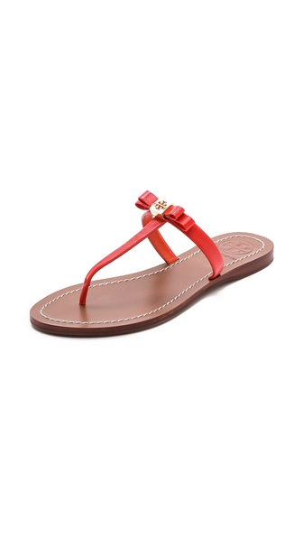 Tory Burch Leighanne Sandals - Poppy Red
