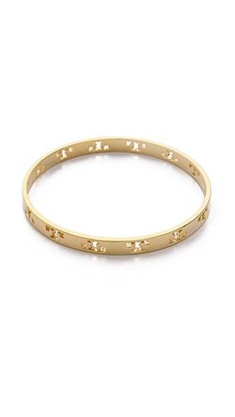 Tory Burch Pierced T Bangle Bracelet