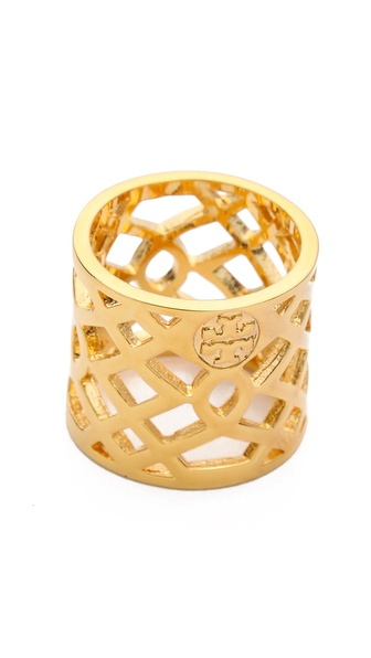 Tory Burch Lace Perforated Ring