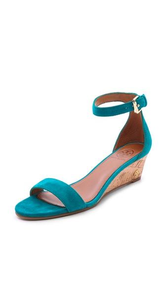 Tory Burch Savannah Wedge Sandals - Aquarius