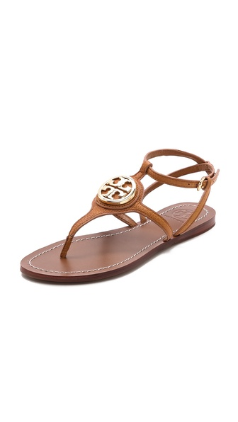 Tory Burch Leticia Flat Thong Sandals - Tan