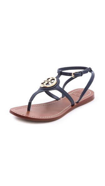 Tory Burch Leticia Flat Thong Sandals - Newport Navy