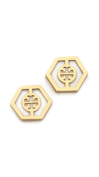 Tory Burch Caroline Button Earrings
