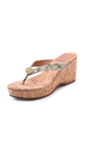 Tory Burch Suzy Cork Wedges - Natural