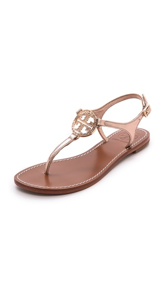 Tory Burch Violet Thong Sandals - Rose Gold