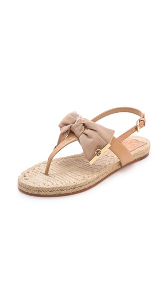 Tory Burch Penny Flat Thong Espadrilles - Camellia Pink