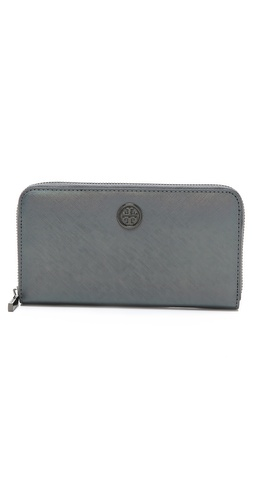 Tory Burch Robinson Iridescent Zip Wallet at Shopbop / East Dane