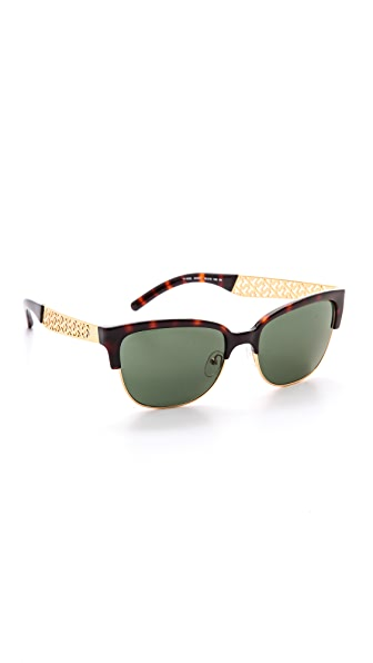 Tory Burch Rimless Bottom Sunglasses
