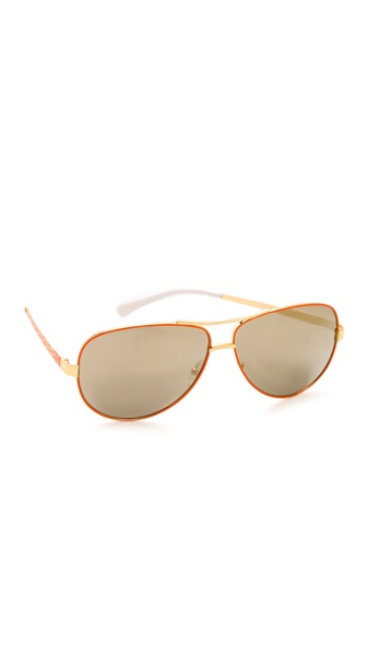 Tory Burch Mirrored Aviator Sunglasses