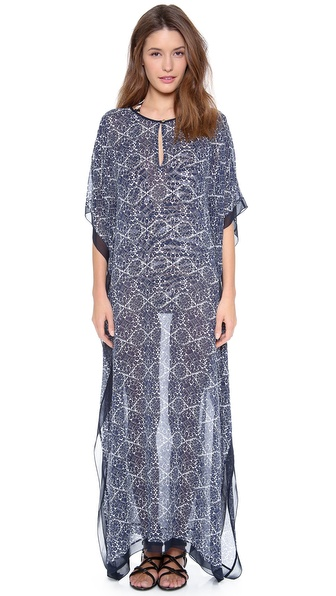 Tory Burch Margherita Long Caftan