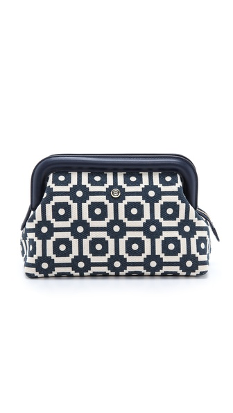 Tory Burch Ellen Printed Canvas Clutch