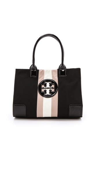 Tory Burch Ella Mini Striped Tote