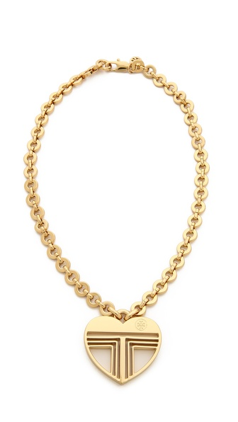 Tory Burch Adeline Fret Pendant Necklace