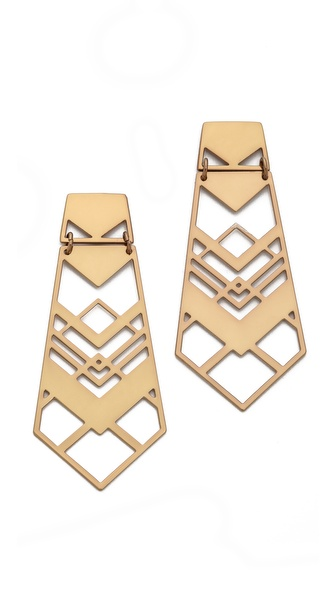Tory Burch Chevron Drop Earrings