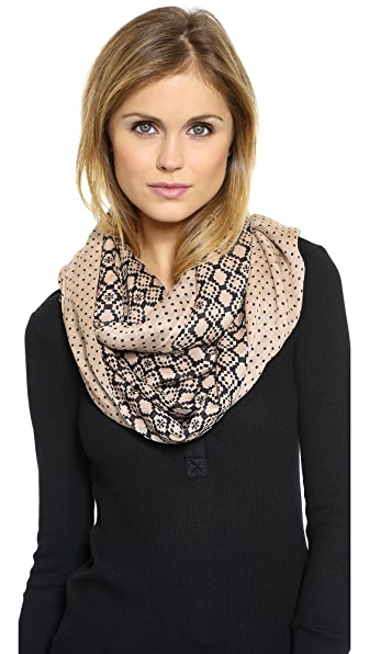 Tory Burch Mini Dot Infinity Scarf
