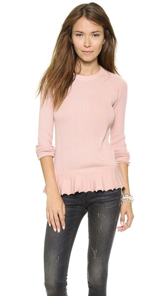 Tory Burch Sienna Peplum Sweater