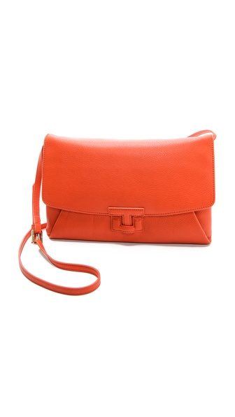 Tory Burch Leather Closure Clutch