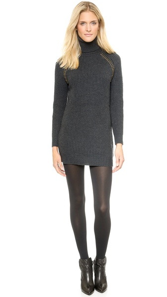 Shop Tory Burch online and buy Tory Burch Mckenna Sweater Dress Charcoal Melange online