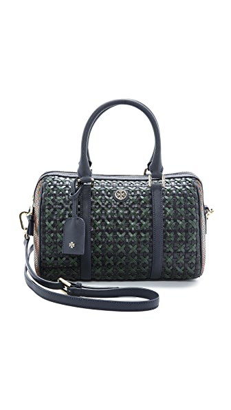 Tory Burch Robinson Woven Small Doreen Satchel