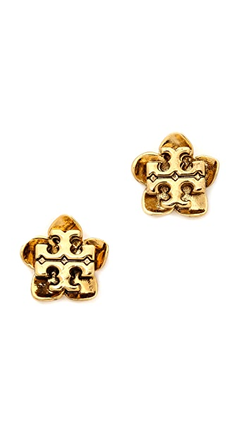 Tory Burch Cecily Flower Stud Earrings