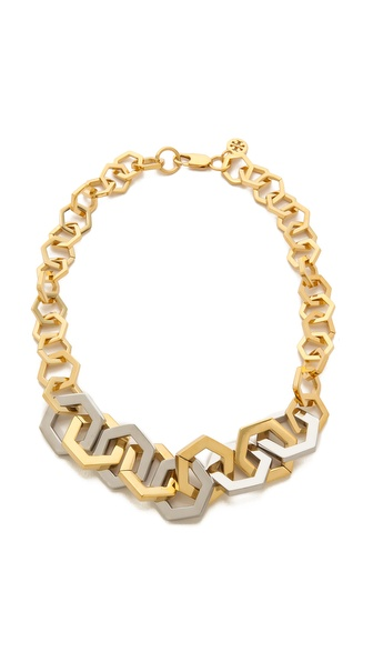 Tory Burch Hexagon Short Necklace