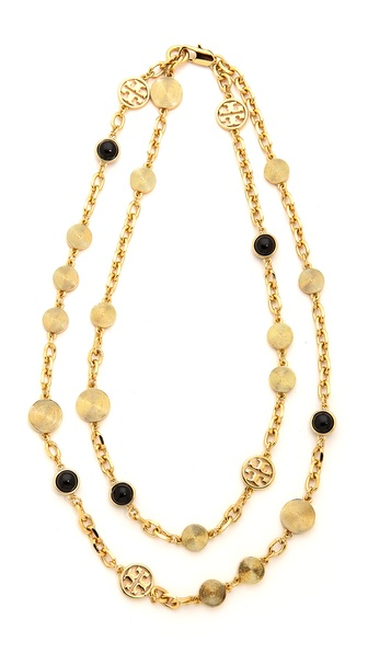 Tory Burch Livia Double Strand Necklace