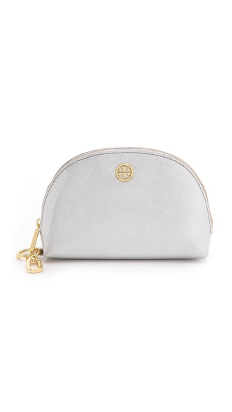 Tory Burch Robinson Metallic Dome Pouch