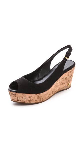 Tory Burch Rosalind Suede Wedge Sandals