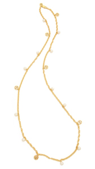 Tory burch logo charm rosary necklace shopbop for Tory burch jewelry amazon