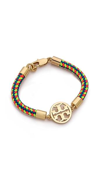 Tory Burch Logo Rope Bracelet - Multi/Shiny Brass