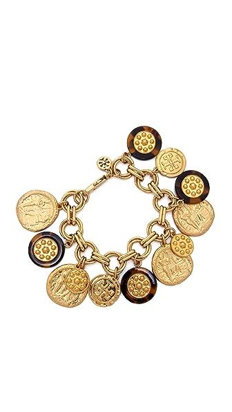 Tory Burch Shiloh Charm Bracelet - Tortoise/Brushed Warm Gold