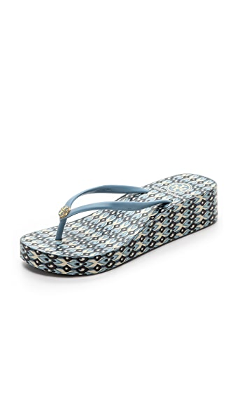Shop Tory Burch online and buy Tory Burch Thandie Flip Flops Cove/Ikat Geo C shoes online