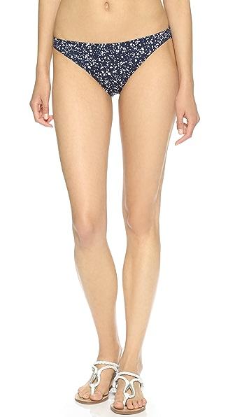 Shop Tory Burch online and buy Tory Burch Glow Dot Bikini Bottoms Tory Navy Glow Dot swimwear online