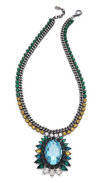Tova Elaborate Jewel Pendant Necklace