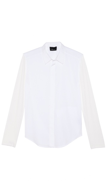 3.1 Phillip Lim Long Sleeve Dolman Button Up Shirt