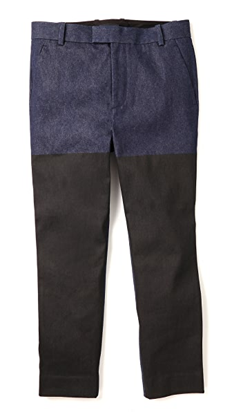 3.1 Phillip Lim Saddle Fit Pants with Printed Panel