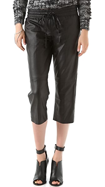 Tribune Standard Drawstring Leather Pants