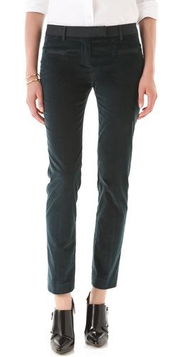 True Royal Slim Fit Velvet Pants