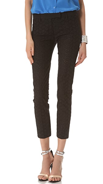 True Royal Eyelet Cropped Pants