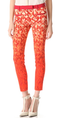True Royal Printed Crop Pants