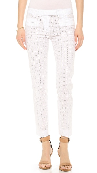 True Royal Eyelet Trousers