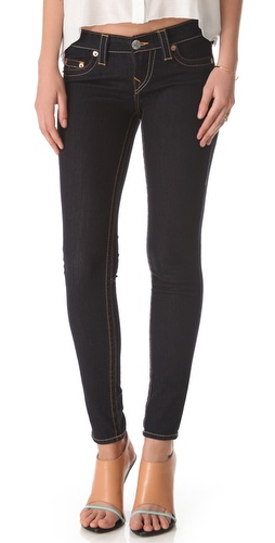Shop True Religion online and buy True Religion Casey Denim Leggings - These dark-rinse denim leggings feature 5-pocket styling and a single-button closure. Horseshoe stitching at coin and back pockets. 10
