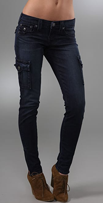 True Religion Krista Super Skinny Cargo Leggings